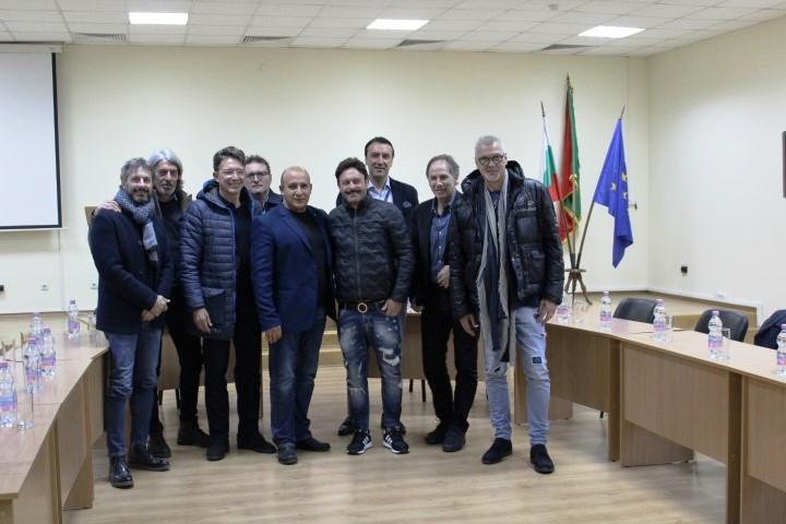 Кметът Белишки се срещна с едни от най-големите футболисти в историята на италианския футбол